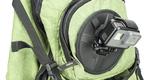 Гибкое магнитное крепление SP Flex Mount на рюкзаке вид сбоку