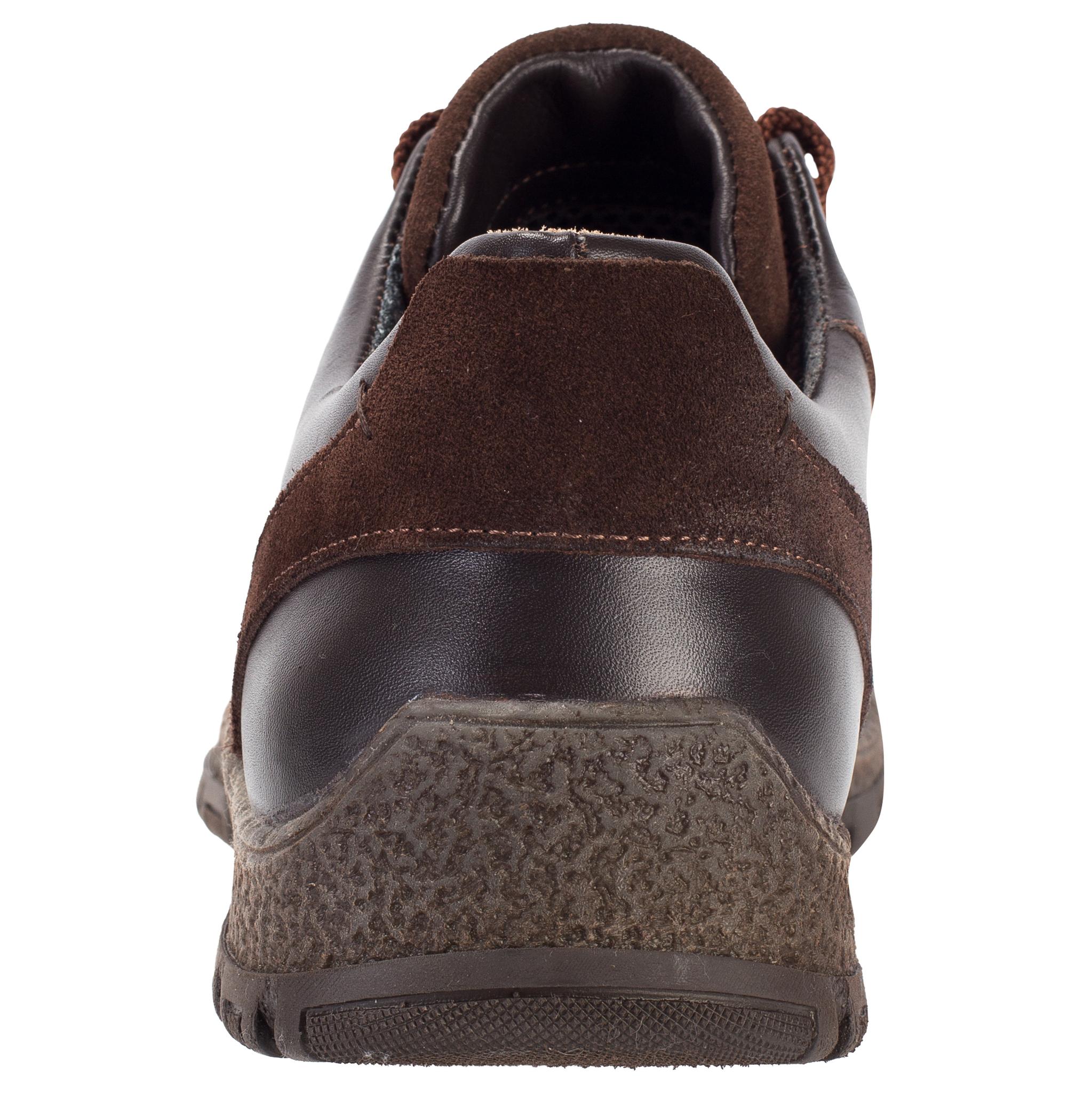 652316 Полуботинки мужские коричневые кожа больших размеров марки Делфино