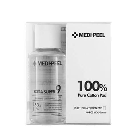 MEDI-PEEL EXTRA SUPER9 BLACKHEAD CLEAR SOLUTION+COTTON PAD
