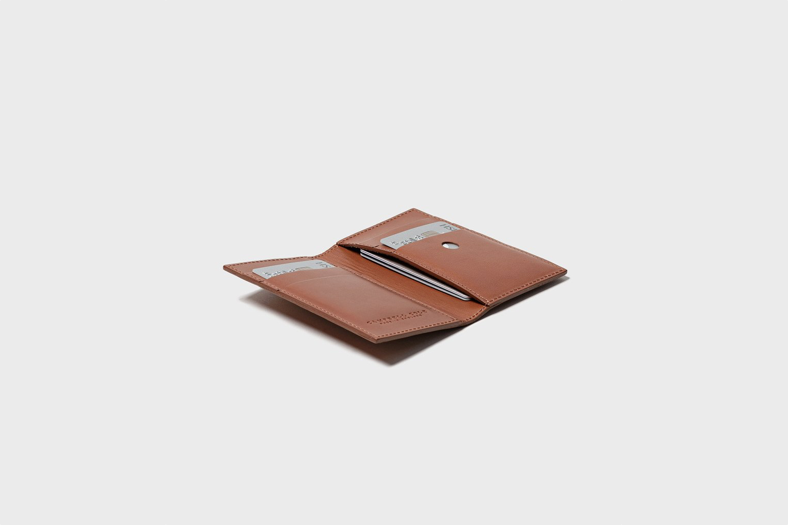 Campbell Cole Simple Slim Card Wallet Tan
