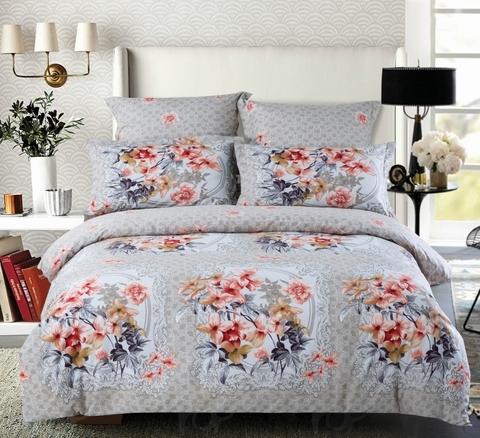 Сатиновое постельное бельё  2 спальное  В-164