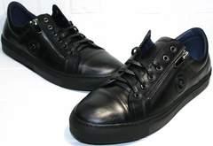 Мужские кеды кроссовки Ікос 1528-1 Black