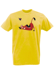 Футболка с принтом мультфильма Король лев (The Lion King, Пумба) желтая 0015