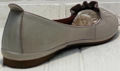 Кожаные туфли женские балетки летние Wollen G036-1-1545-297 Vision.