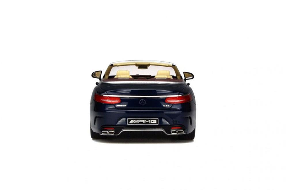 Коллекционная модель MERCEDES-BENZ A217 S-CLASS S65 AMG CONVERTIBLE 2017 BLUE