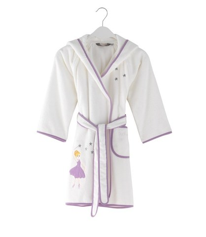 Детский махровый халат BALLERINA 92 лиловый