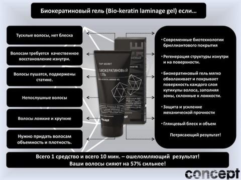 Био кератиновый гель Concept, 200 мл