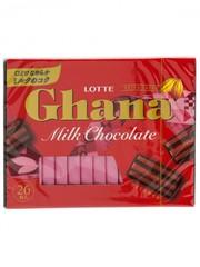 Шоколад ГАНА Экселент, молочный, набор 4,6 гр*26 шт., Lotte, 119,6 гр.