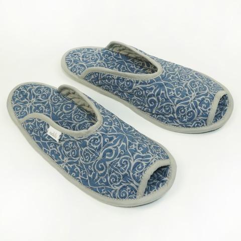 Тапочки для дома мужские синие (принт 156-03) Adili
