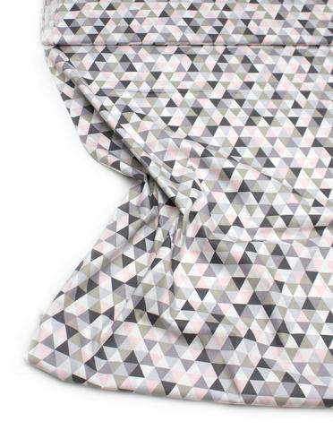 Треугольники серо-розовые