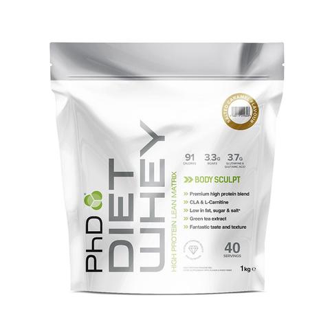 PhD Diet Whey, диетическая протеиновая смесь, вкус Соленая Карамель, 1 кг.