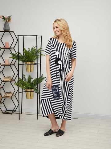 D21224 Платье длинное с коротким рукавом