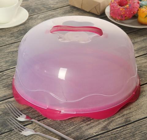 Блюдо для торта с крышкой, d=28см h=14см