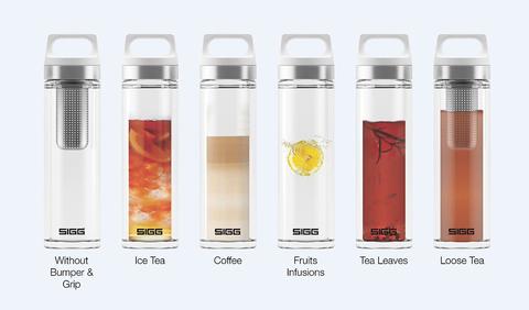 Термобутылка Sigg H&C Glass WMB Midnight (0,4 литра), розовая