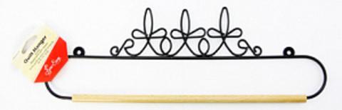 Хангер фигурный для лоскутного панно или вышивки, ширина 35,5 см (арт ERQH36.14BLK)