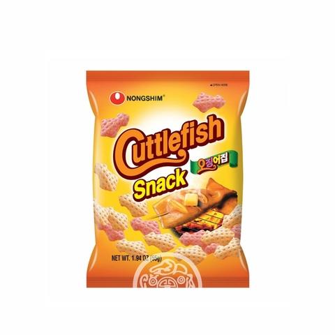 Чипсы NONGSHIM  со вкусом кальмара не острая 55г Корея