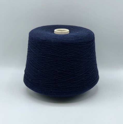 Бобинная пряжа Cariaggi (пр.Италия) ,2800м / 100 гр.100%Кашемир, цвет-Синий,арт.9873