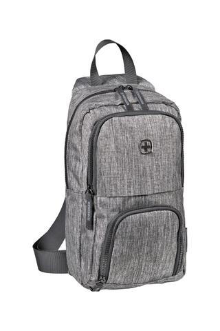 Рюкзак на одно плечо серый 8 л WENGER Console 605029