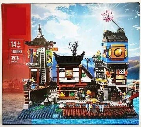 Конструктор Lion King 180093  New Ninjiasaga Blocks Порт Ниндзяго Сити