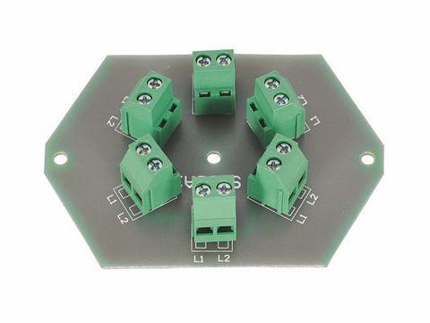 Leiterplatte Verteilerdose Stromverteilung 6 fach, Клеммник