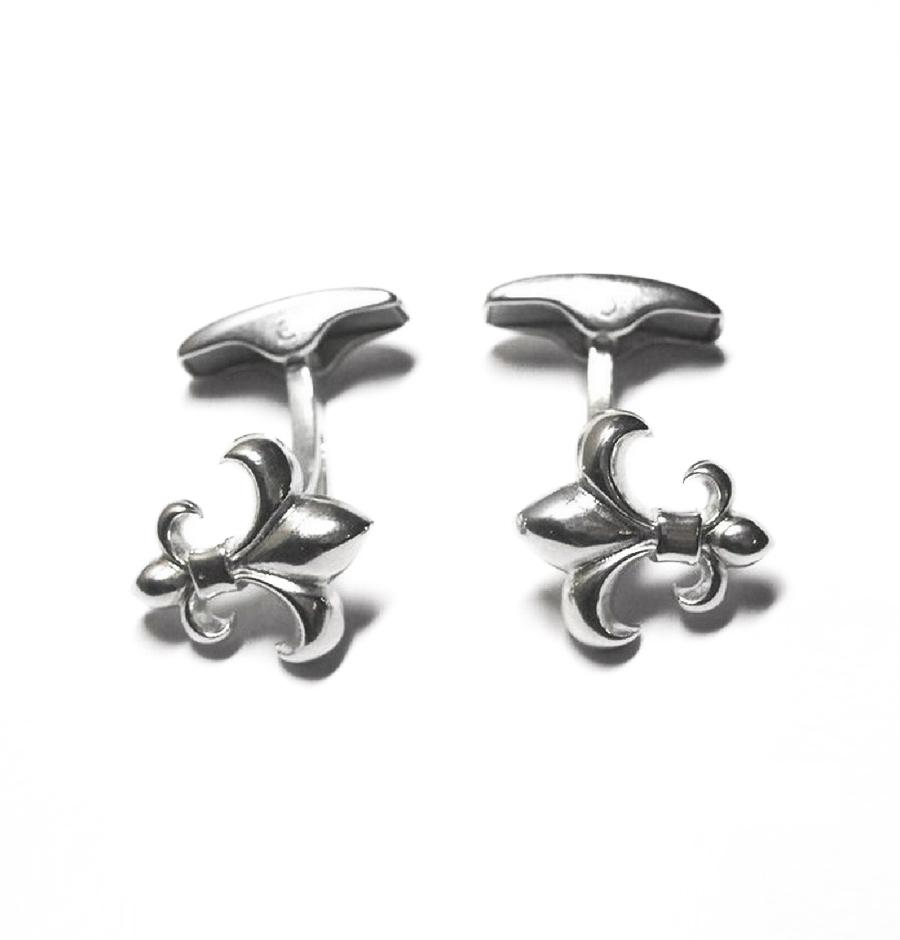 Two Lilies Cufflinks, Sterling Silver