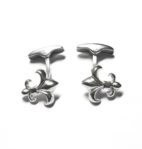 Two Lilies Cufflinks, Sterling Silver