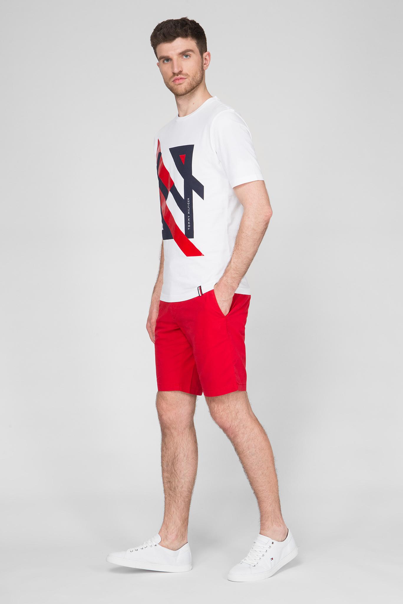 Мужская белая футболка DECONSTRUCTED STRIPE RELAX Tommy Hilfiger