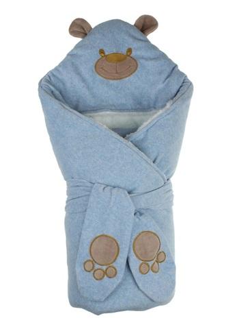 Зимний конверт-одеяло Little Bear голубой меланж