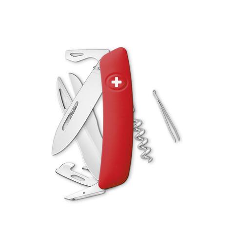 Швейцарский нож SWIZA D07 Standard, 95 мм, 12 функций, красный