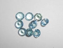 Циркон голубой натуральный 5 мм круг