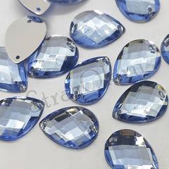 Cтразы акриловые пришивные купить Light Sapphire Drope