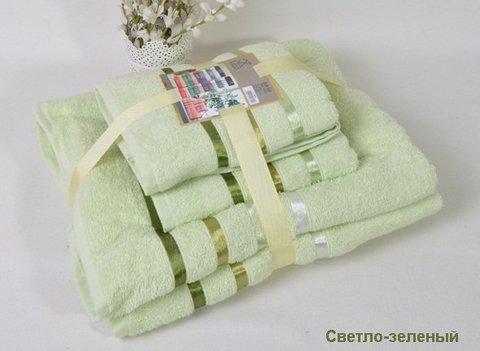 Комплект махровых полотенец КАРНА , светло - зеленый