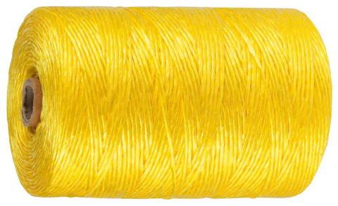Шпагат ЗУБР многоцелевой полипропиленовый, желтый, d=1,8 мм, 60 м, 50 кгс, 1,2 ктекс