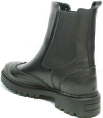 Модные ботинки на осень Jina 7113 Leather Black