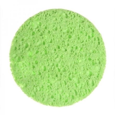 Спонж для лица цвет зеленый (диаметр 8 см)
