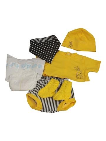 Комплект с подгузником - Желтый. Одежда для кукол, пупсов и мягких игрушек.