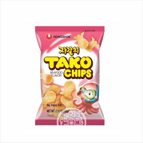 Чипсы NONGSHIM Тако со вкусом осьминога не острая 60г Корея