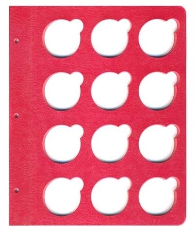 Листы для монет в капсулах на 41мм  КоллекционерЪ