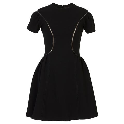 Приталенное мини-платье Ermanno Ermanno Scervino 41TAB14 с коротким рукавом