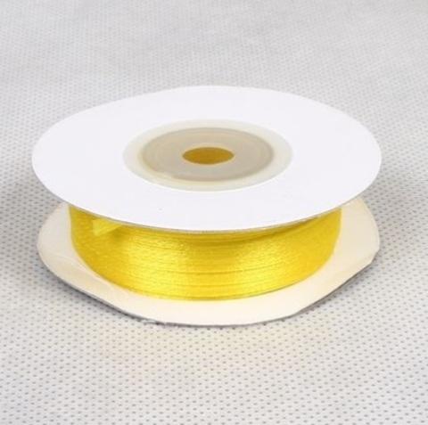 Лента атласная (размер: 3 мм х 50 м) Цвет: желтая