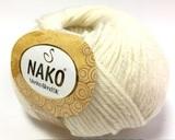 Пряжа Nako Merino Blend DK 208 белый