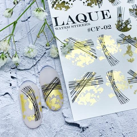 LAQUE Слайдер дизайн #CF-02 (GOLD+BLACK )