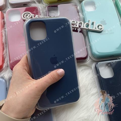 Чехол iPhone 6S Plus Silicone Case Full /alaskan blue/