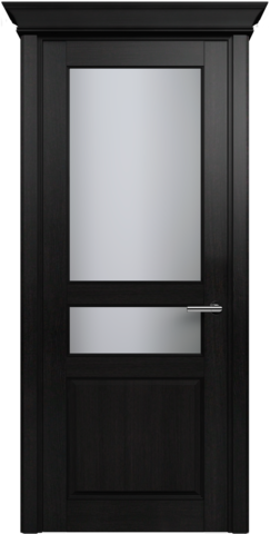 CLASSIC 533 Дуб Черный стекло Сатинато Белое
