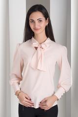 Маркіза. Красива блуза з бантом. Пудра