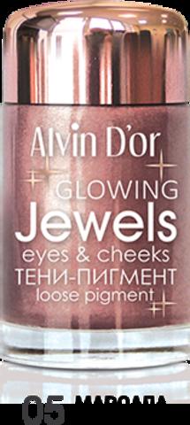 Alvin D`or Тени-пигмент для век Jewels  тон 05  AES-17 ,3г