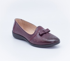 Бордовые кожаные туфли