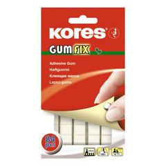 Клейкие квадраты двусторонние монтажные Kores Gum Fix полимерная смесь 9 х 11 х 3.2 мм (84 штуки в упаковке)