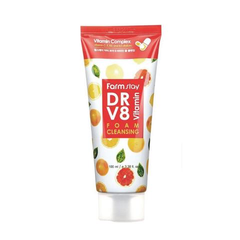 FARM STAY Витаминная пенка для очищения кожи -  DR.V8 Vitamin Foam Cleansing 100мл