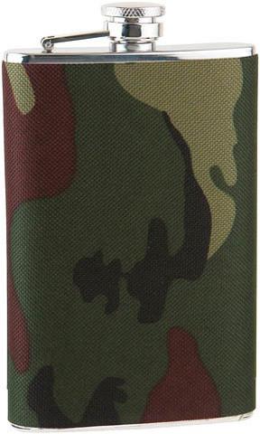 Фляга S.Quire (0,24 литра), сталь+ткань, камуфляжная вставка